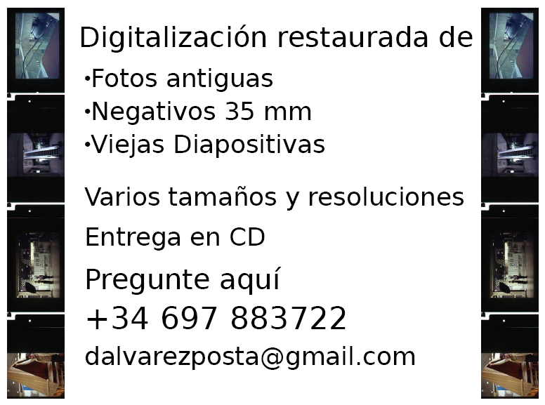 Digitalización restaurada de fotos antiguas