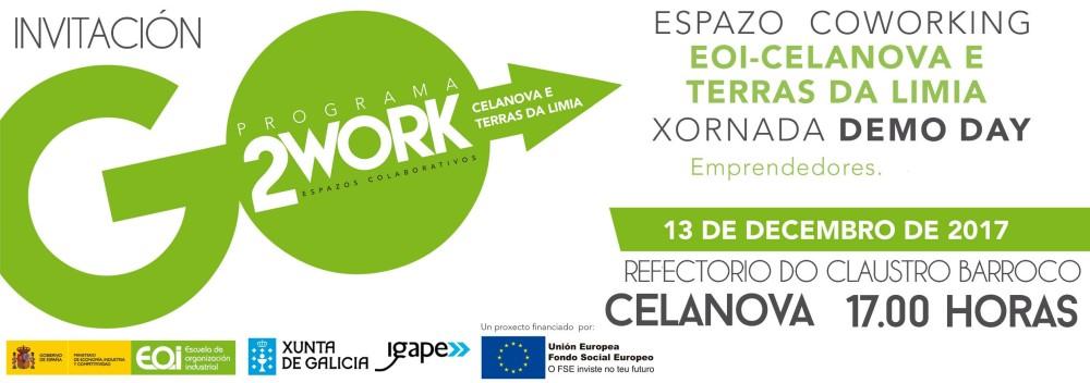 Demo Day - Coworking Celanova 2017. Míercoles 13 de diciembre, 2017, 17:00